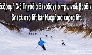 Εκδρομή χιονοδρομικό 3-5 Πηγάδια