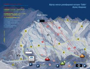 Εκδρομή πισοδερι χιονοδρομικο χαρτης